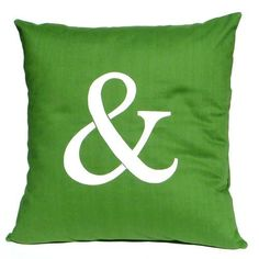 Ampersand Pillow.