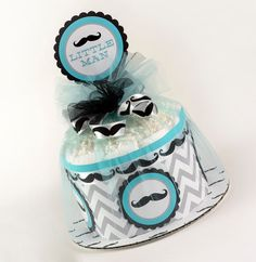 Mini diaper cakes not only make unique and memorable gifts but also adorable centerpieces or decorations for baby showers.    This mini