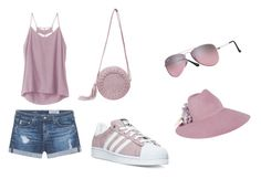 """""""❤"""" by roroq176 ❤ liked on Polyvore featuring AG Adriano Goldschmied, RVCA, adidas, Gucci and Ray-Ban"""