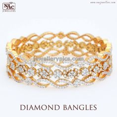 Rich Diamond bangle design by nac jewellers - Latest Jewellery Designs