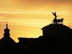 Sunset over Vittoriano, Rome, Italy