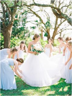 Lowndes Grove Summer Wedding with pink and blue details Mix Match Bridesmaids, Bridesmaid Poses, Short Bridesmaid Dresses, Candid Wedding Photos, Bridesmaid Getting Ready, Charleston Sc, Destination Wedding Photographer, Summer Wedding