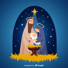 Discover thousands of free-copyright vectors on Freepik Christmas Rock, Christmas Nativity Scene, Christmas Wishes, Vintage Christmas, Christmas Time, Christmas Crafts, Christmas Ornaments, Christmas Graphics, Christmas Clipart