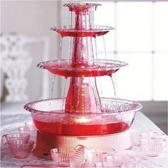 We like to offer free punch at our Valentine Dinner Dance Auction and it has to be red! This is the Rival Beverage Fountain and it holds 2 gallons! Champagne Fountain, Hollywood Birthday Parties, 21st Bday Ideas, Baby Shower Favors Girl, Mimosa Bar, Drink Table, Punch Bowls, Romantic Dinners, Birthday Celebration