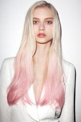 Platinum Blonde fade to Pastel Pink hair