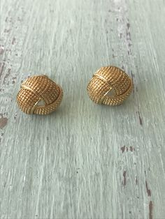 A personal favorite from my Etsy shop https://www.etsy.com/listing/560226963/vintage-clip-ons-gold-knot-earrings-avon
