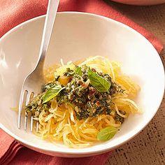 Arugula Pesto with Spaghetti Squash