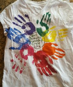The brownies made this shirt at their bridging ceremony to juniors