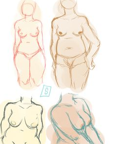 Some figure practice based on this and a photo reference.  #drawing #sketch #figureDrawing #chubby #anatomy