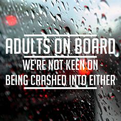 Bumper sticker - Adults on board - Funny car decal by AdnilCreations on Etsy Funny Bumper Stickers, Funny Decals, Car Stickers, Car Decals, Sticker Ideas, Window Stickers, Window Decals, Funny License Plates, Preppy Car Accessories