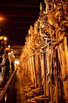 1001 statues of Kannon :Sanjusangendo temple, Kyoto, Japan