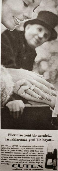 OĞUZ TOPOĞLU : cutex tırnak cilası 1964 nostaljik eski reklamlar