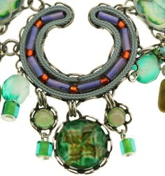 Close up of Ayala Bar Necklace showing the incredible detail