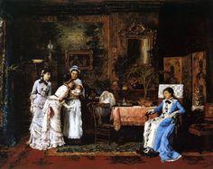 Dětský návštěvník (1879) Mihály von Munkácsy