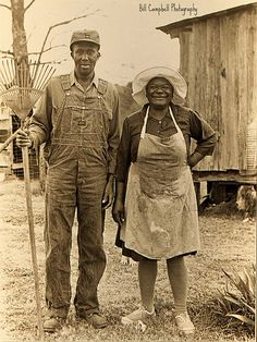 +~+~ Vintage Photograph ~+~+ Country couple