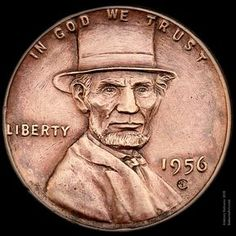 """""""Lincoln's Top Hat"""" wheat penny engraved by Aleksey Saburov. """"Lincoln& Top Hat"""" wheat penny engraved by Aleksey Saburov. Rare Coins Worth Money, Valuable Coins, Antique Coins, Old Coins, Antique Items, Penny Values, Lincoln, Rare Pennies, Coin Worth"""