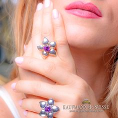 Kaufmann de Suisse Diamond Jeweler Designers Since Custom diamond rings, engagement rings, wedding rings, bracelets and fine jewelry necklaces. Amethyst Rings, Diamond Rings, Diamond Jewelry, Jewelry Rings, Jewelery, Gemstone Rings, Fine Jewelry, Palm Beach Florida, Jewelry Showcases