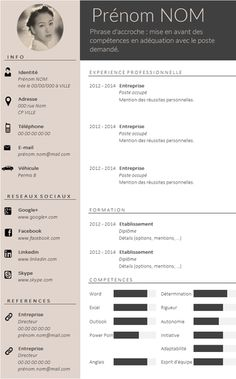 ✿ Envie d'un CV design et tendance ? Plus If you like this cv template. Check others on my CV template board :) Thanks for sharing! Cv Design, Resume Design, Cv Template Professional, Professional Resume, Template Cv, Resume Templates, Web Developer Resume, Cv Inspiration, Administrative Assistant Resume