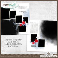 Beautiful Memories Templates Vol.84 :: Gotta Grab It :: Gotta Pixel Digital Scrapbook Store by Indigo Designs