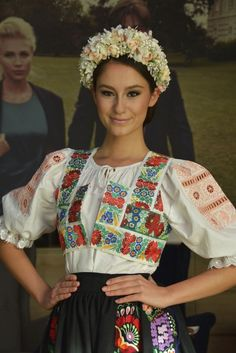 vicemiss of Slovakia 2015 Petra Denkova is a participant of Miss Supranational 2015 Ethnic Fashion, Colorful Fashion, Love Fashion, Folk Costume, Costumes, Beauty Around The World, Ethnic Dress, World Cultures, Traditional Dresses