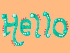 """Hello"" Hand Lettering with Frosting"