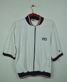 Vintage 90s White Fila Italia Big Logo At The Back   M Size   Sportswear b8a934999a413