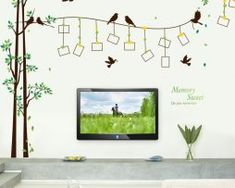 Amaonm Giant Large Family Photo Tree Wall Decal Decor Birds Tree Branches & Lettering Memory Wall Stickers Murals for Bedroom Living Room, Frame, x Family Tree Photo, Large Family Photos, Photo Tree, Wall Stickers Birds, Large Wall Decals, Family Tree Wall Sticker, Family Wall Decor, Diy Art, Cheap Home Decor Stores