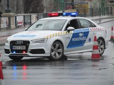 The Audi A3 Hungarian Police Car  (German car made in Hungary)