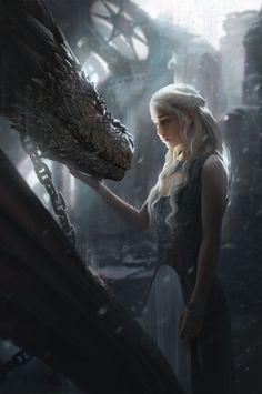 Постер Game of Thrones - Дейенерис - Игра Престолов - Daenerys