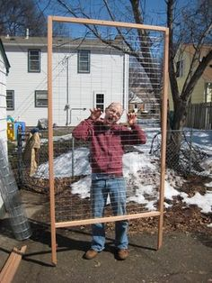 We made a trellis for the garden last fall, but my post about it was rather light on details. We built 3 more of them during our spring break, so here are detailed building and installation instruc…