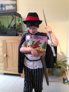 Highway Rat dressing up - World Book Day Book Costumes, World Book Day Costumes, Book Week Costume, Diy Costumes, Costume Ideas, World Book Day Outfits, World Book Day Ideas, Fancy Dress For Kids, Kids Dress Up