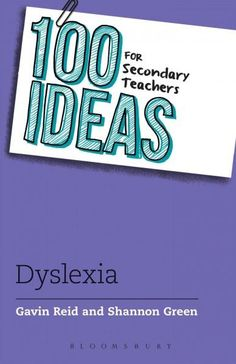 This is a brand new title from the authors of the bestselling 100 ideas for primary teachers: Dyslexia. It is a practical guide providing secondary teachers supporting children and young people with d