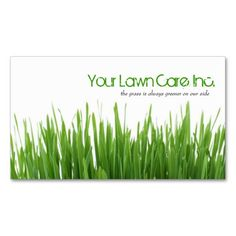 Lawn Care Landscaping Business Card