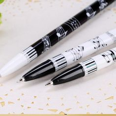 The-lovely-cute-8th-notes-style-ballpoint-pen-stationery-music-notes-pencils-free-shipping-12pcs-lot.jpg (540×540)