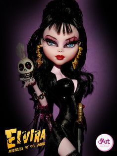 Elvira-Mistress of the Dark Monster High Ooak Doll by OskArt Dolls, via Flickr