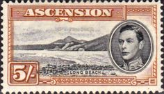 Ascension 1938 George VI SG 46a Fine Mint Scott 48 Long Beach Other West Indies and British Commonwealth Stamps HERE!