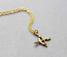 Arrow Of Eros Gold Necklace