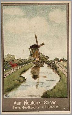 van Houten Nederlandse reclame prent vintage lbxxx.