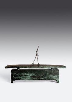 Alberto Giacometti, Homme gui marche sous la pluie (Man Walking in the Rain)  1948  at Fondation Beyeler