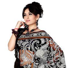 #Black Net #Saree with Blouse
