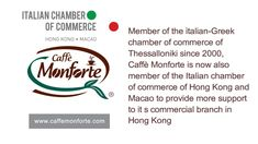 Caffe Monforte member of Italian chamber of Hong Kong and Macao