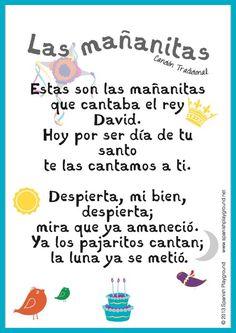 Las mañanitas is a traditional happy birthday song in Spanish.