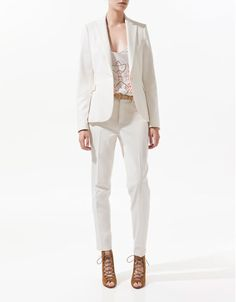 BASIC DOUBLE CLOTH BLAZER - Blazers - Woman - ZARA