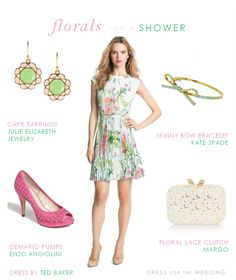 Bridal Shower Dress. See more style ideas for what to wear to weddings and events on http://www.dressforthewedding.com/