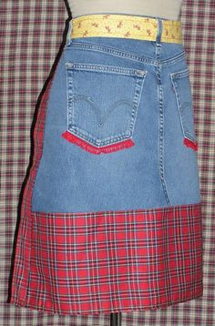 Denim Aprons, Jean Apron, Jean Crafts, Cgi, Satin, Button, Clothes For Women, Cooking, Lady