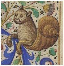 Happy Snailcat is happy. Horae ad usum Parisiensem  http://gallica.bnf.fr/ark:/12148/btv1b550008032/f385.item