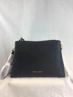 Authentic Michael Kors Portia Medium Shoulder Bag Black