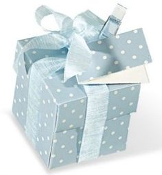 Blue Polka Dot Favour Box Lula Mai Events