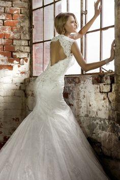 el último diseño vestido de de noiva sirena de novia de estilo manga de la tapa de atrás abierta vestidos de novia del diseñador de vestidos de novia nef11