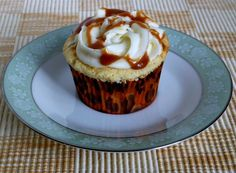 Vanilla Cupcake with Salted Caramel Filling and Vanilla Butter Cream with Salted Caramel Drizzle